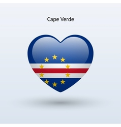 Love cape verde symbol heart flag icon vector