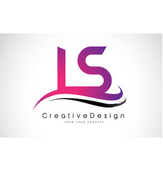 ls l s letter logo design creative icon modern vector image