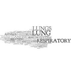 Lung word cloud concept vector
