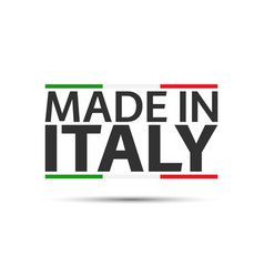 made in italy colored symbol with italian vector image