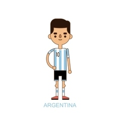 National Euro Cup argentina soccer football player vector image