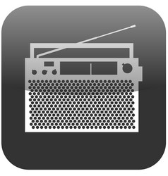 obsolete radio announcer with antenna icon vector image