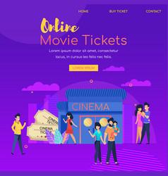 online movie ticket festival cinema advertising vector image