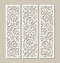 Ornamental tiles with cutout paper pattern vector