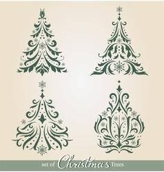 Ornate Christmas Trees vector image