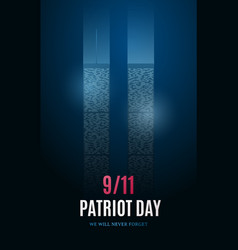 patriot day banner with light building vector image