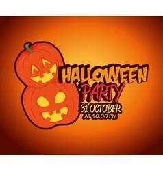 poster halloween party with pumpkin design vector image