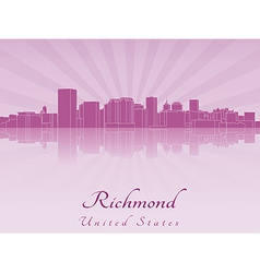 Richmond skyline in purple radiant orchid vector