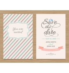 Save date wedding invitation card vector