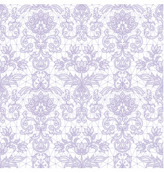 Seamless lilac lace vector
