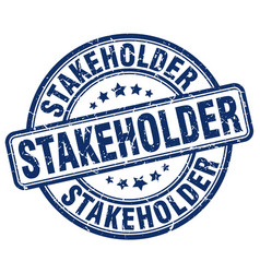Stakeholder blue grunge stamp vector