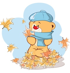 stuffed toy bear cub cartoon vector image
