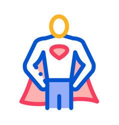 Superman full growth icon outline vector