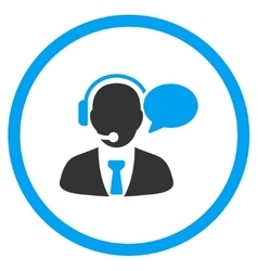 Support Manager Message Rounded Icon vector image