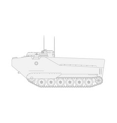 tank isolated on white background military vector image