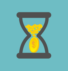 Time is money business concept vector