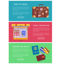 Time to travel web pages set vector