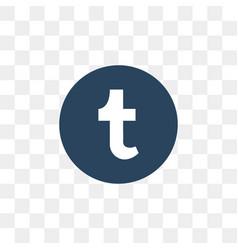 tumblr social media icon design template vector image