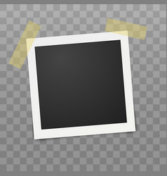 vintage photo frame realistic shape on vector image