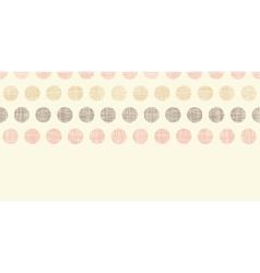 Vintage textile polka dots horizontal border vector image