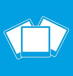 Wedding invitation cards icon white vector