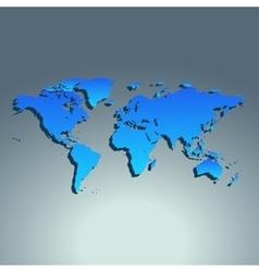 World map blue color Flat design vector