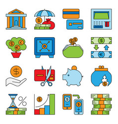 banking and financial money services bank vector image