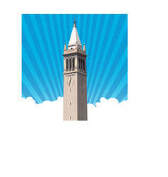 berkeley campanile tower vector image vector image