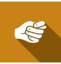 Gesture fig Hand showing a fig icon vector image