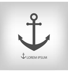Grey anchor vector