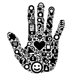 Human hand concept vector image vector image