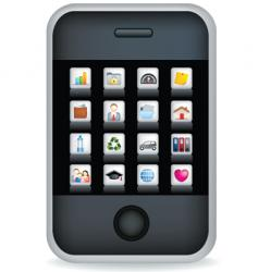 phone touchscreen vector image vector image