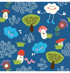 seamless pattern fabric vector image vector image