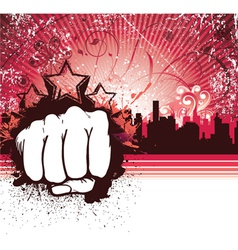 urban background with fist vector image