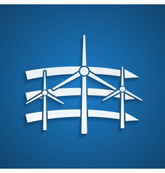 wind energy vector image