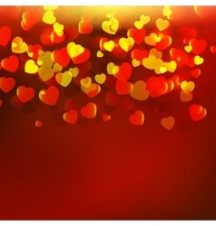 Abstract red background with red hearts vector image vector image