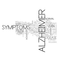 alzheimer stages text word cloud concept vector image vector image