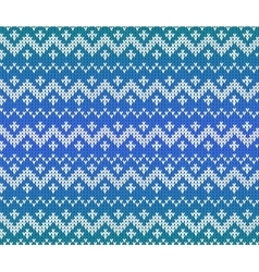 Blue knitted Scandinavian ornament seamless vector image