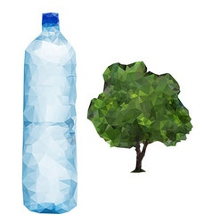 bottle and Tree vector image vector image