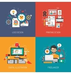 Designer Concept Set vector image