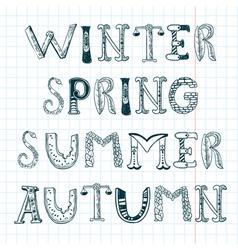 season words vector image