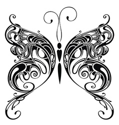 Tattoo butterfly vector image vector image