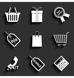 Universal Color Flat Icons vector image vector image