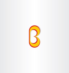 yellow red logo of letter b icon vector image