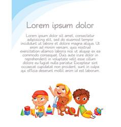 children look up with interest vector image vector image