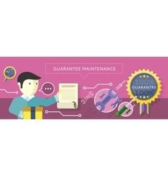 Concept to Provide Service Guarantees Maintenance vector image vector image