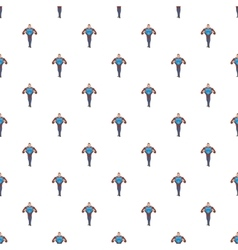 Superhero in costumes pattern cartoon style vector image vector image