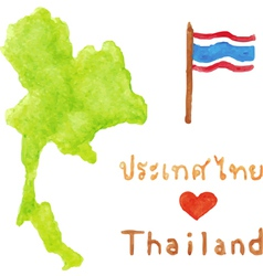 Thailand map and flag vector image vector image