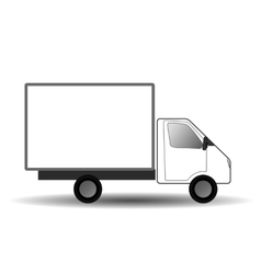 White city truck vector image vector image
