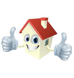 cartoon house mascot vector image vector image